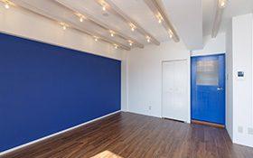 空間の統一~ブルーと素材を活かして